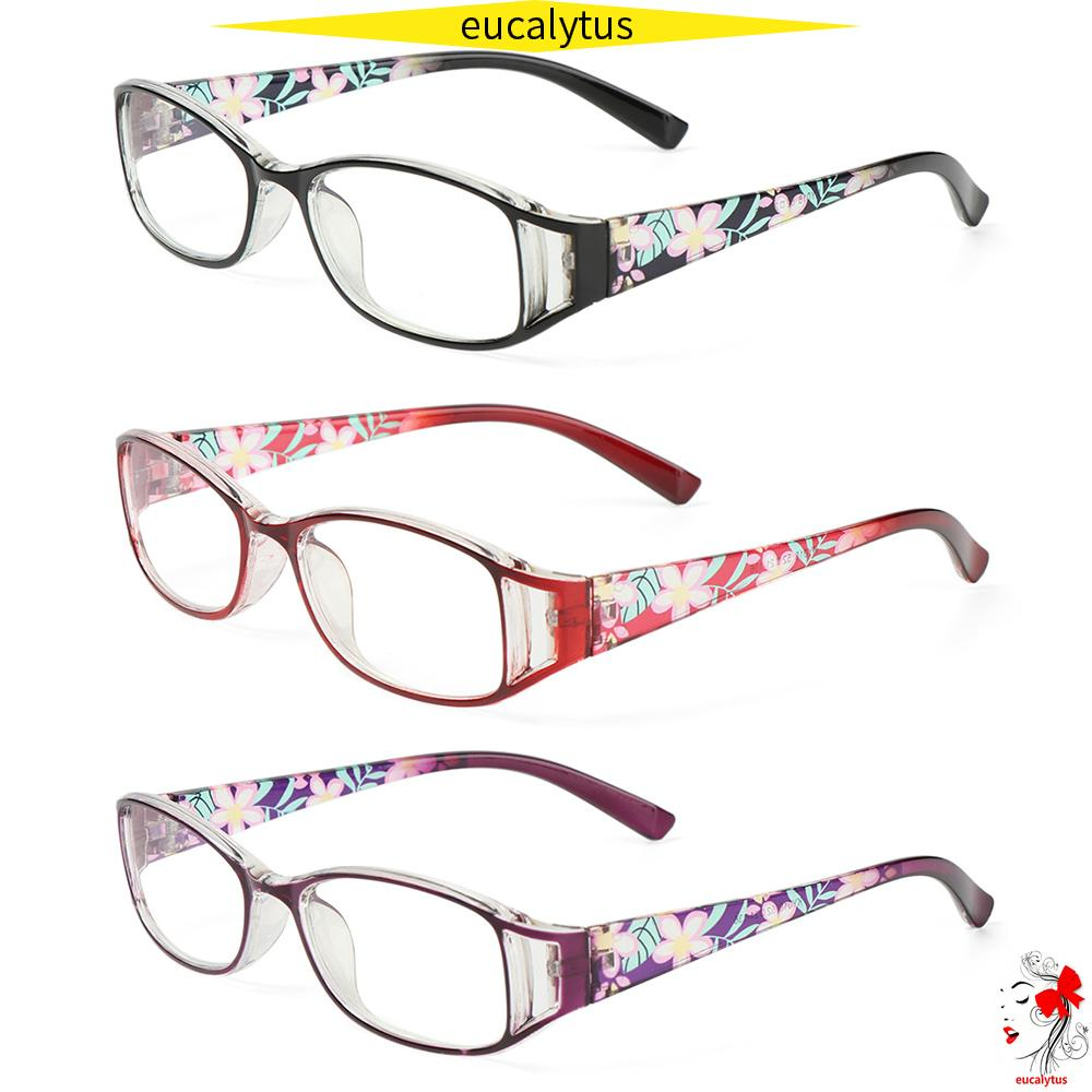 🌸EUTUS🌸 Women Anti-Blue Light Eyeglasses Comfortable Eye Protection Reading Glasses Portable Elegant Fashion Flowers Vintage Ultra Light Frame/Multicolor