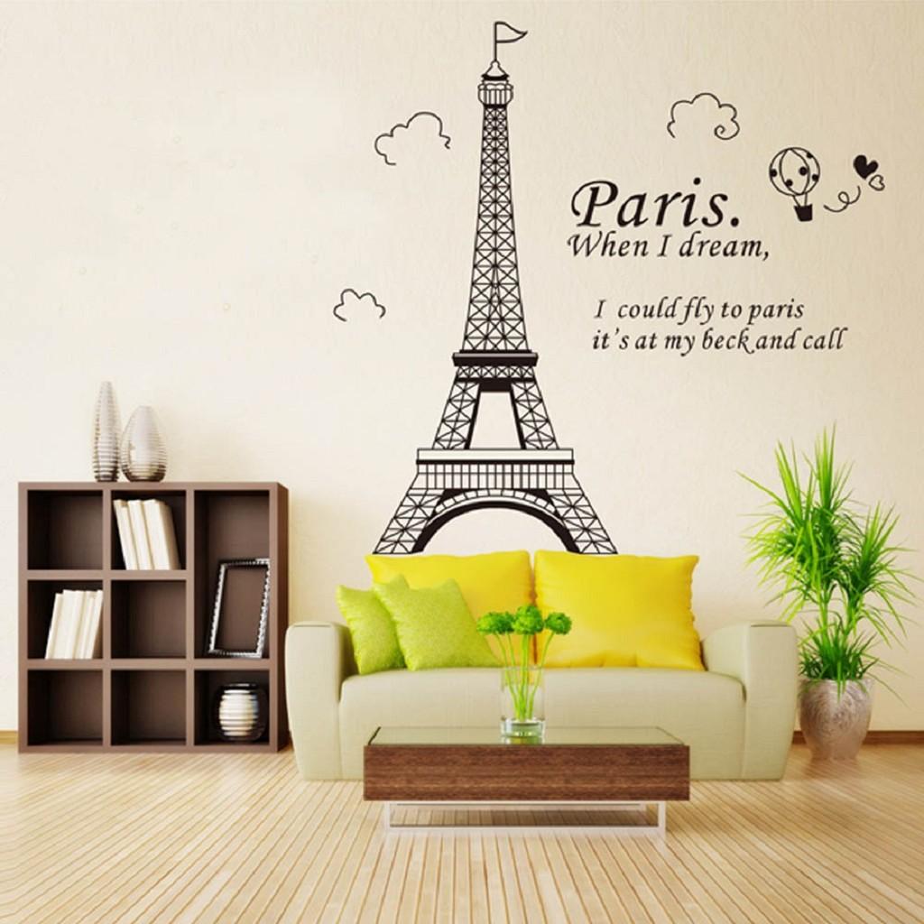 Decal dán tường paris