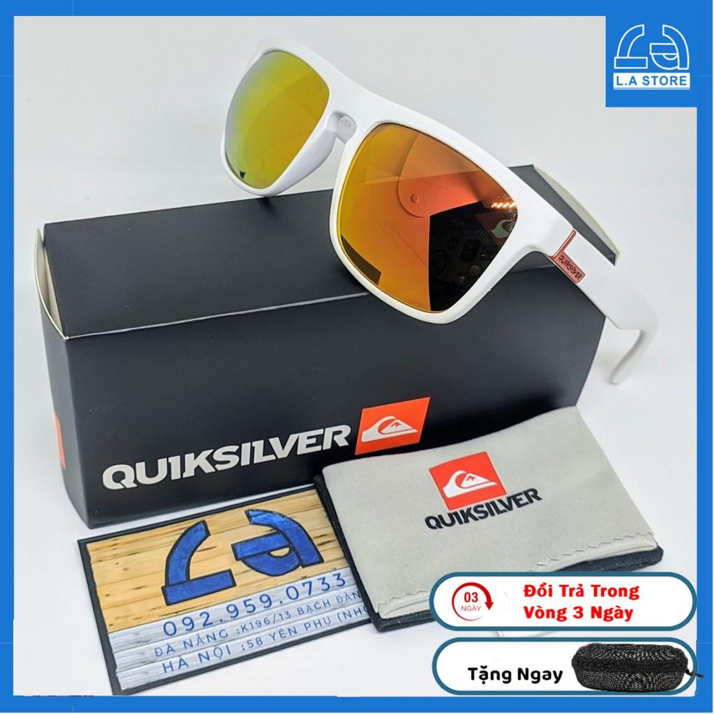 [FullBox] Kính Mát QuikSilver Ferris Vàng Trắng,Chống Nắng,Chống Chói,Chống UV400,Tặng Kèm Hộp Cứng Khăn Lau Túi Mềm