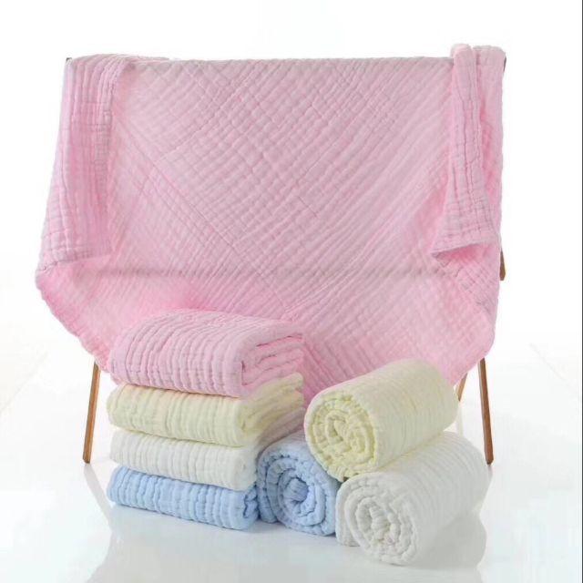 Khăn tắm xô / chăn đắp hè 6 lớp 105×105cm