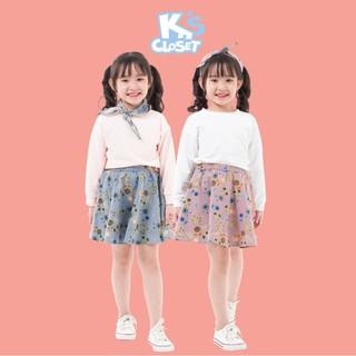 Set Áo Kèm Chân Váy Cho Bé Gái (5 - 9 tuổi) K's Closet K038TEF TM