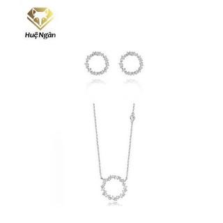 Combo dây chuyền và khuyên tai bạc Ý - Huyền thoại biển xanh PP1528-RYE140938