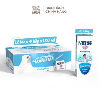"""[Mã GRO1NCFT1 giảm 10% đơn 150K] Thùng 48 Hộp Sữa Nước Có Đường Nestle 180ml/ hộp giá chỉ còn <strong class=""""price"""">25.500.000.000đ</strong>"""