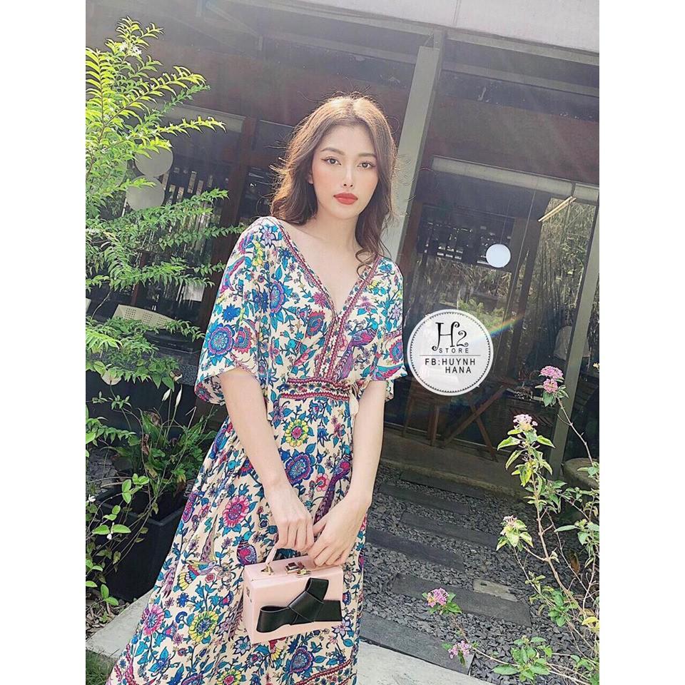 Váy Maxi Thổ Cẩm Đi Du lịch Cực hot