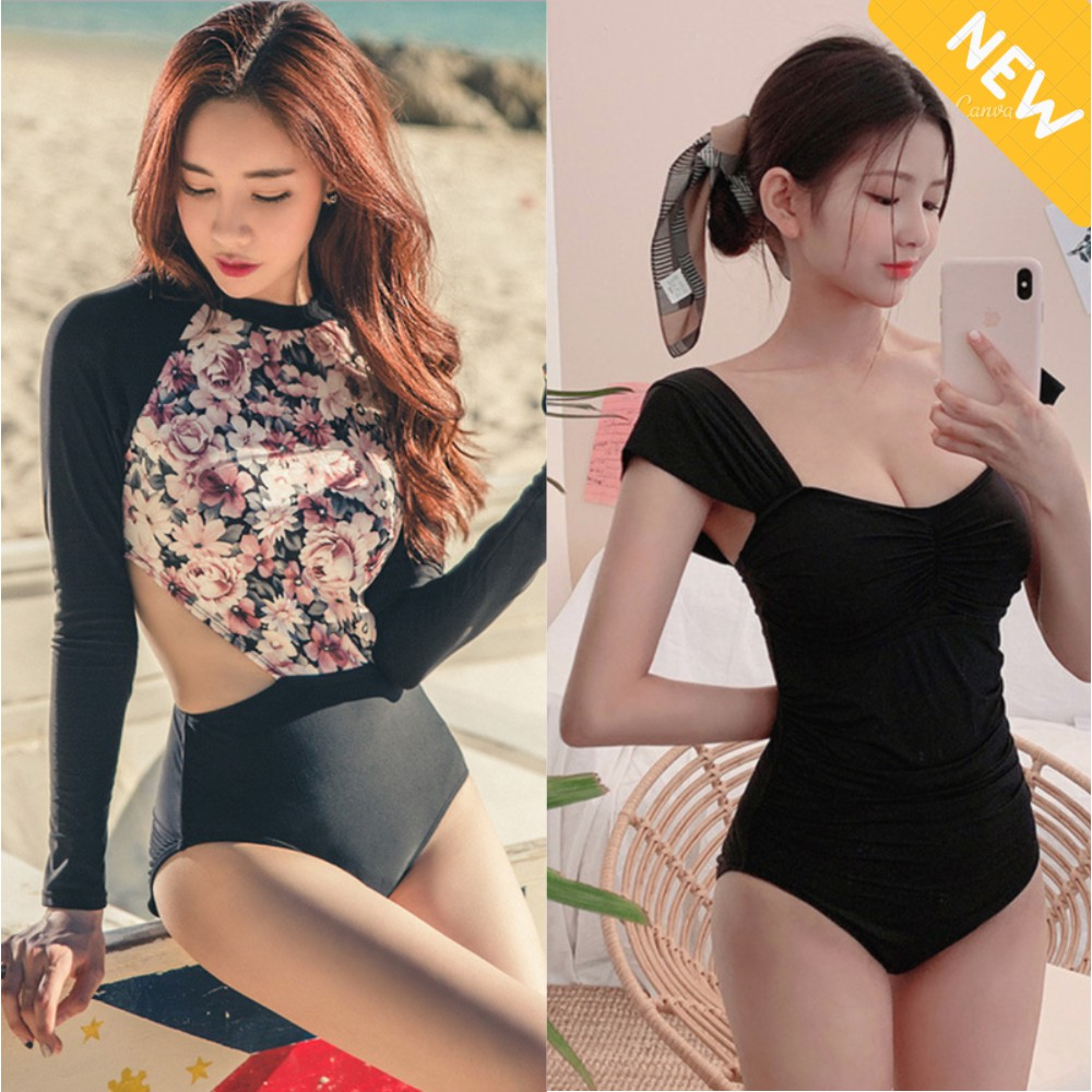 (Hà Nội) Bộ Đồ tập bơi đi tắm biển nữ Bikini 1 mảnh (Set Áo dài liền quần lót) Hetwin II cửa hàng việt VIỆT NAM VIỆT NAM