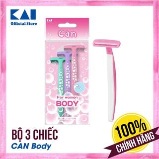 [CHÍNH HÃNG] Bộ 3 chiếc dao cạo lông cho nữ Nhật Can Body cạo lông cơ thể an toàn - BH 12 tháng 1 ĐỔI 1 thumbnail