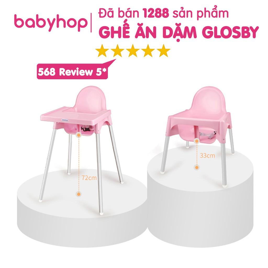 Ghế Ăn Dặm Glosby Babyhop Chân Điều Chỉnh Đã Bao Gồm Mặt Bàn - Bảo Hành 12 Tháng