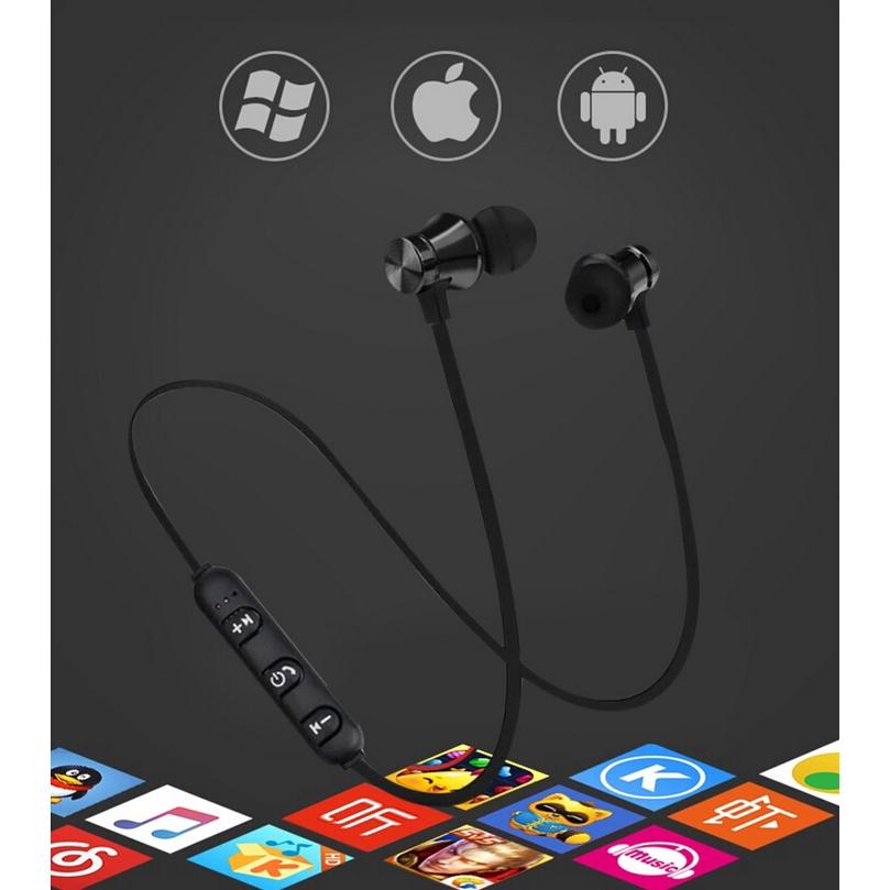 Tai Nghe Bluetooth 4.2 Chống Nước Thiết Kế Hít Nam Châm