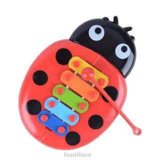 Develop Intelligence Insects Piano Random Color Non Toxic Early Education Plastic Percussion Instrument Toy