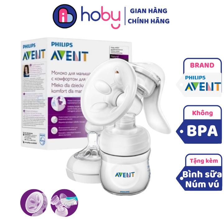 Dụng cụ hút sữa bằng tay Philips Avent [có bình sữa] - Hút sữa cầm tay chính hãng Philips Avent dễ sử dụng