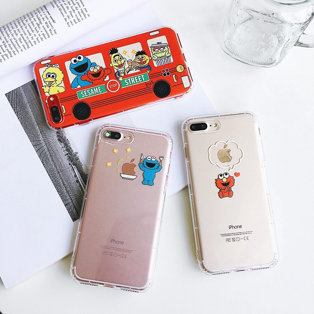 Ins cartoon XSMAX XR shell iphone8/7p/6s plus all-inclusive shatter-resistant
