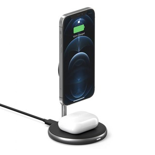 BỘ SẠC KHÔNG DÂY HYPERJUICE MAGNETIC 2 IN 1 WIRELESS CHARGING STAND IPHONE 12 SERIES & AIRPODS