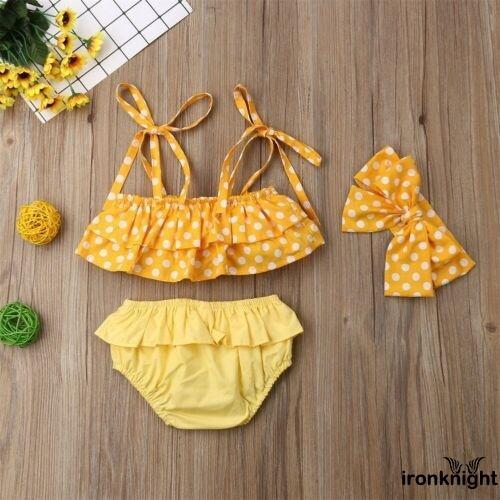 Bộ 3 mảnh đồ bơi dễ thương đáng yêu dành cho bé gái