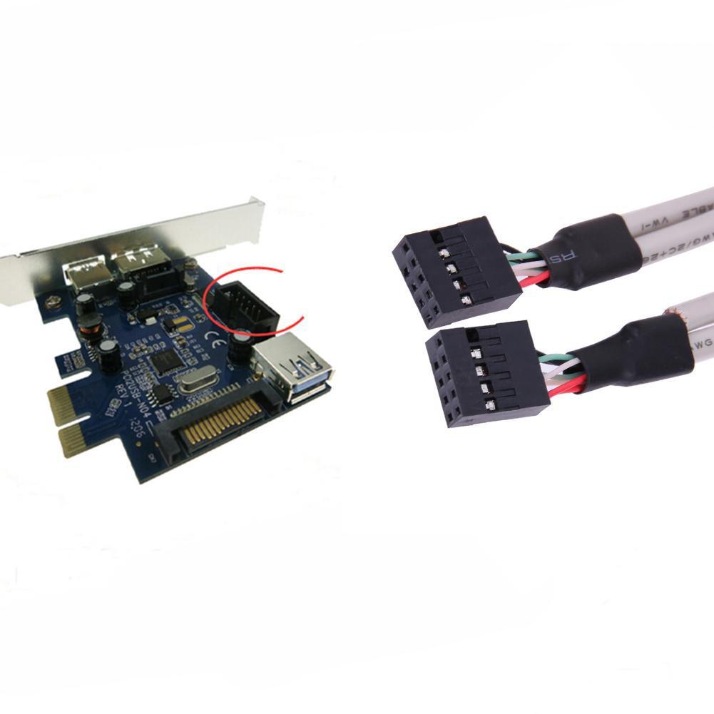 Cáp USB 2.0 mở rộng 4 cổng 9 pin đa năng tiện dụng