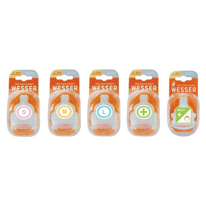 Núm - Ty bình sữa Wesser cổ rộng silicone đủ size - 2 cái / vỉ - 2929992 , 437547976 , 322_437547976 , 86000 , Num-Ty-binh-sua-Wesser-co-rong-silicone-du-size-2-cai--vi-322_437547976 , shopee.vn , Núm - Ty bình sữa Wesser cổ rộng silicone đủ size - 2 cái / vỉ