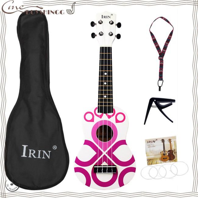 Musical Instrument with Bag+Strap+String+Capo Kids Music Toy Knot Strings Pattern Fashion 4 21inch Ukelele Ukulele Basswood