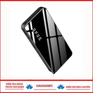 💥Bảo Hành 6 Tháng💥Sạc Dự Phòng 5600 mAh Mặt Kính hiển thị pin.2 Cổng USB có đèn