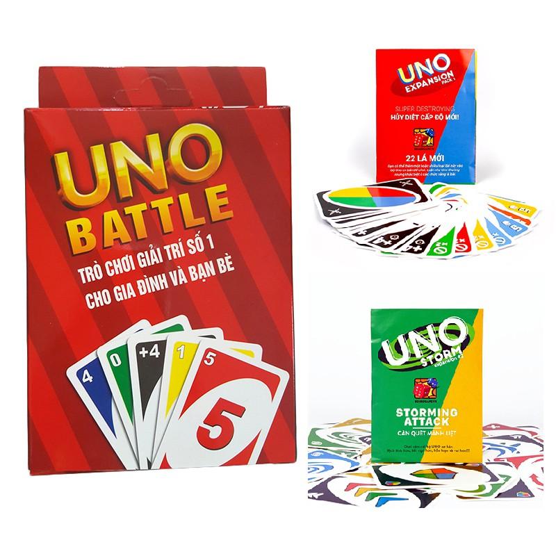 Combo Bài Uno đại chiến và 2 bản mở rộng (Uno đại chiến và Uno Storm)