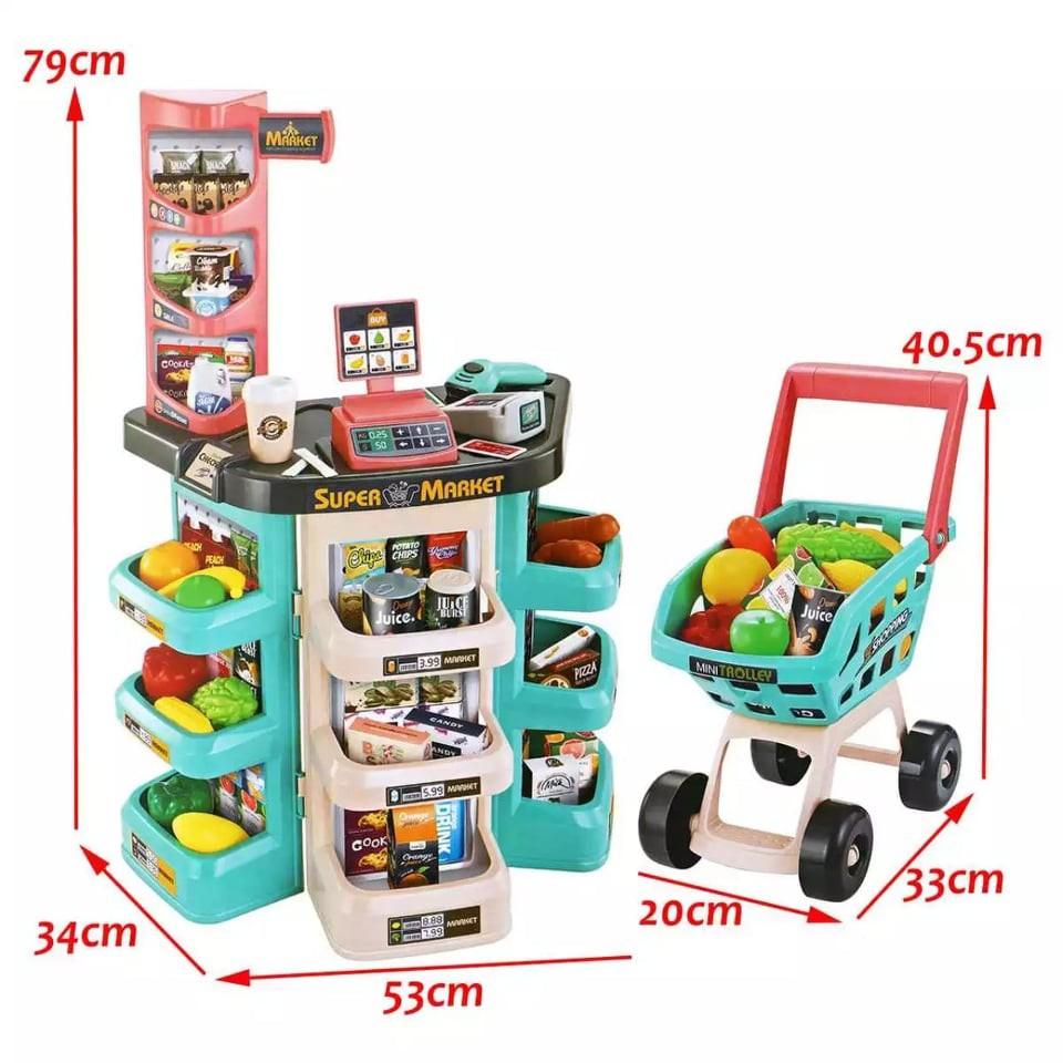 Đồ chơi siêu thị cỡ lớn cao cấp [47 món] – Bộ Đồ chơi bán hàng siêu to