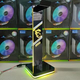 Giá treo tai nghe Gaming Logo MSI Led RGB, tặng kèm điều khiển chỉnh màu