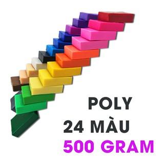 Đất sét nặn Polymer Clay Nhật Thái Hộp 24 Màu KHÔNG BAO GIỜ HỎNG, NẶN CỰC ĐẸP, TÁI SỬ DỤNG nhập khẩu từ Nhật Bản