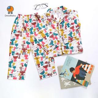 Set Pijama Họa Tiết Gia Đình Mèo Cho Bé DearBaby P-04 thumbnail