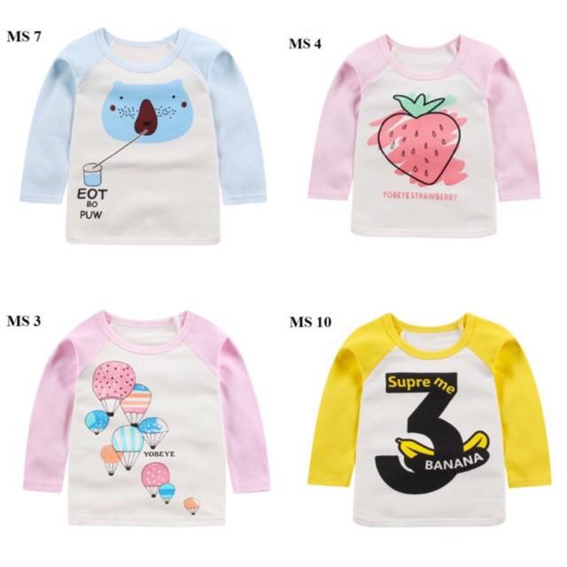 Freeship đơn từ 50K_( P2) Áo phông cotton dài tay cho bé xinh yêu