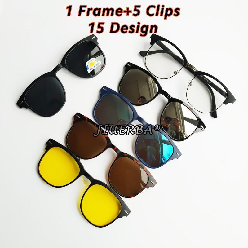 Bộ kính mát chống nắng 5 trong 1 gọng nam châm tiện dụng
