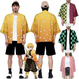 Anime Demon Slayer: Kimetsu no Yaiba Kamado Nezuko Haori Cosplay Coat Loose Jacket
