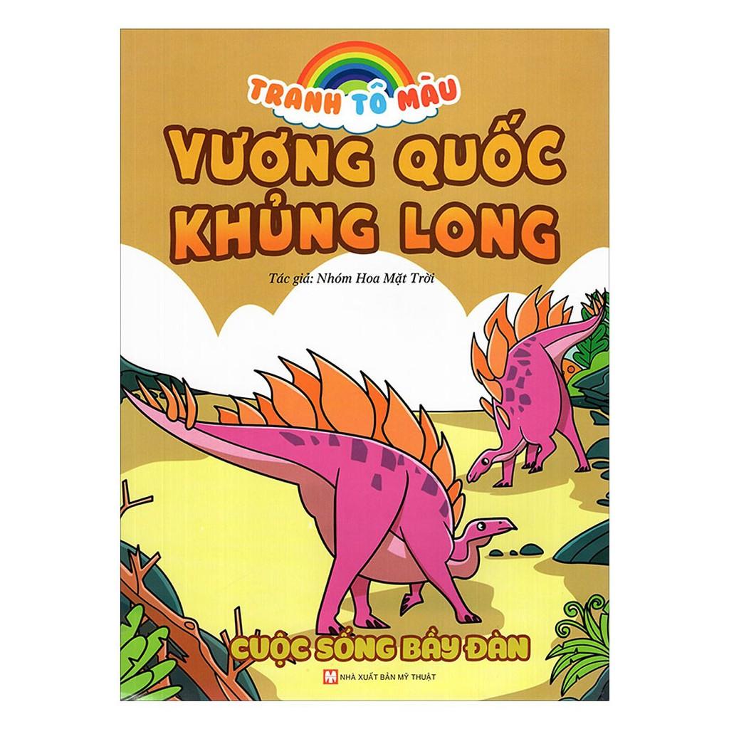 Sách - Tranh Tô Màu Vương Quốc Khủng Long - Cuộc Sống Bầy Đàn
