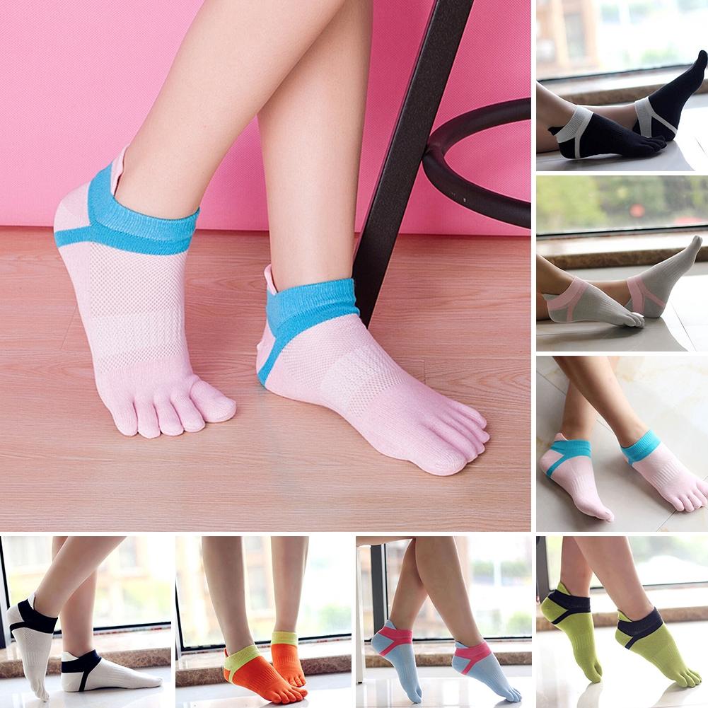 NEW Women Low Cut Ankle Show Toe Socks Cotton Blend Breathable Five Finger 8 Colors