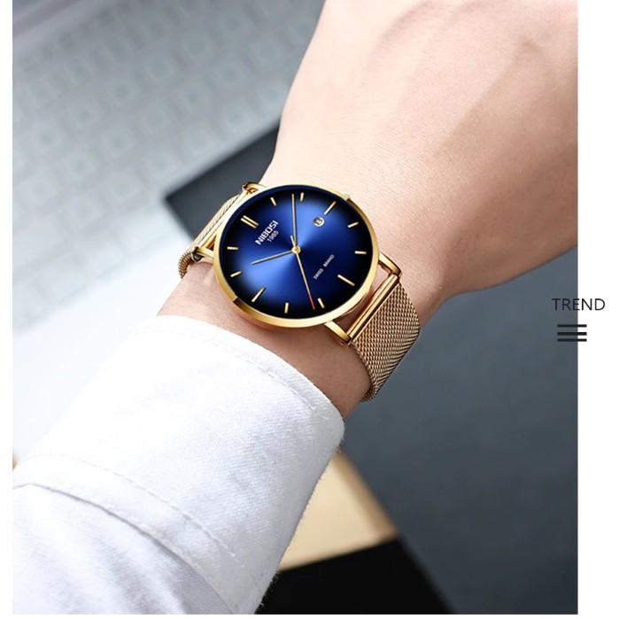 Đồng hồ Nibosi nam 2362 fullbox (vàng xanh)
