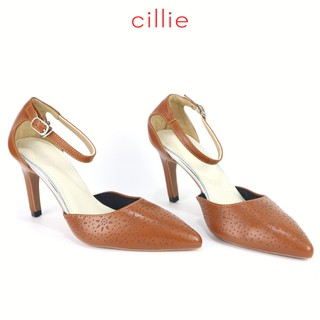 Giày cao gót nữ da thật cao 7cm mũi nhọn Cillie 1039