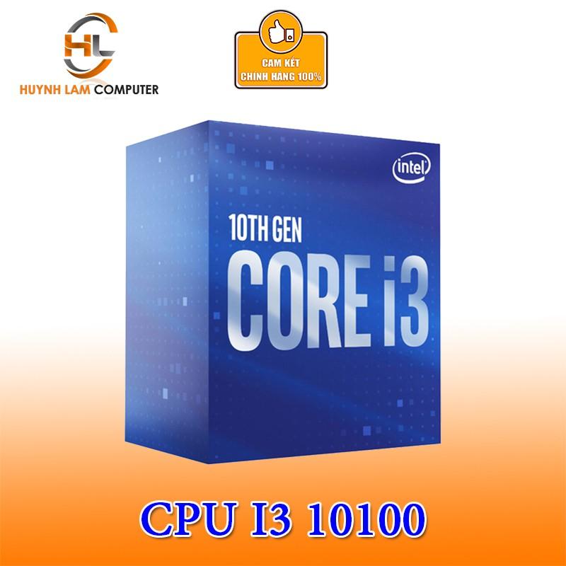 CPU Intel Core i3 10100 3.6GHz turbo up to 4.3GHz, 4 nhân 8 luồng Chính hãng Viễn Sơn phân phối