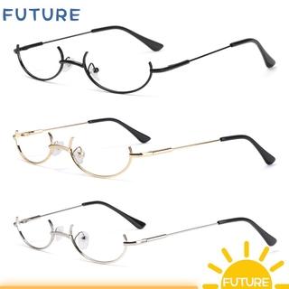 🎈FUTURE🎈 Unisex Glasses Frame Cosplay Party Photography Eyeglasses Decoration Eyewear Fashion Myopia Metal No Lens Half Frames/Multicolor