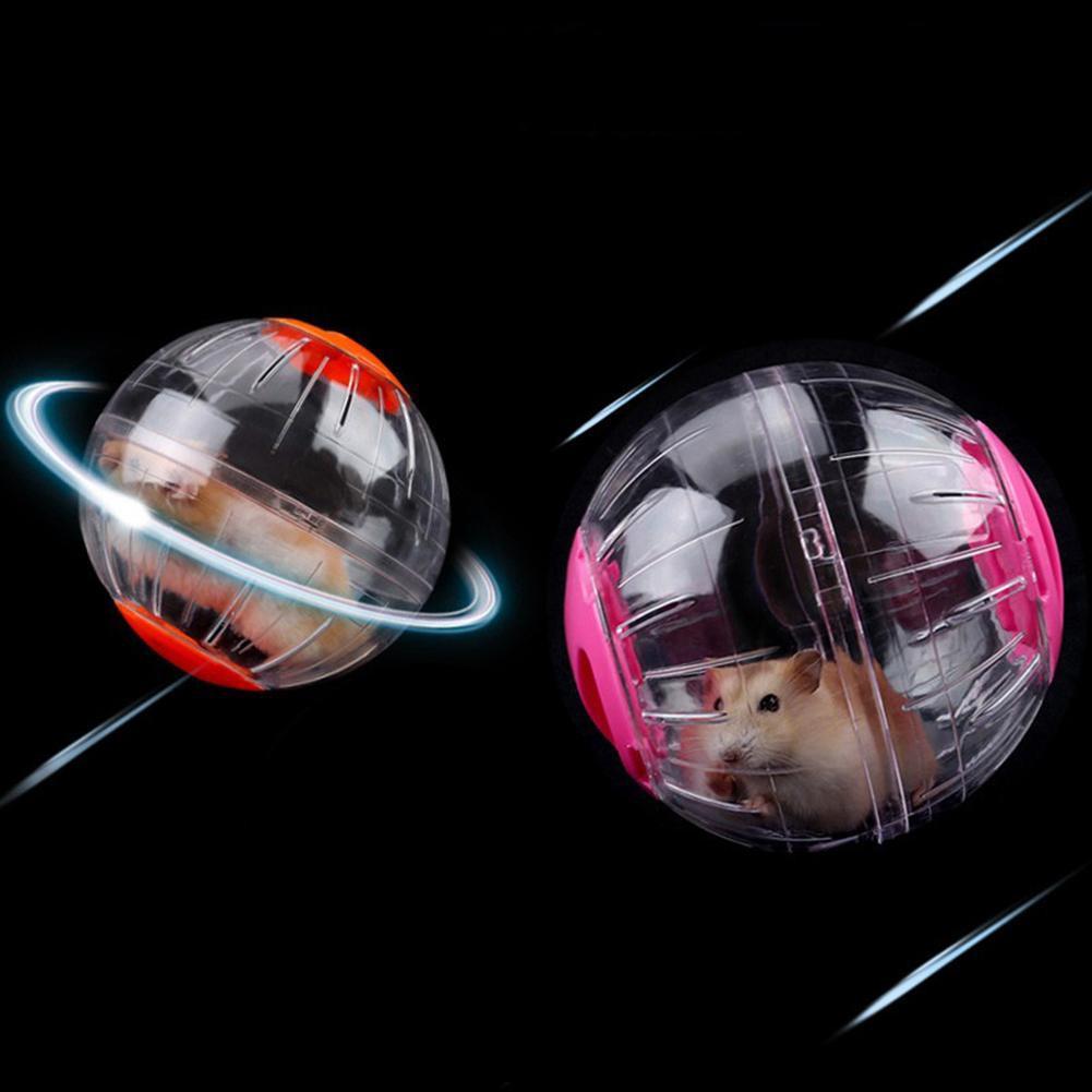 RDCG☬Fun Running Ball Plastic Grounder Jogging Hamster Pet Small Exercise Toy 12cm