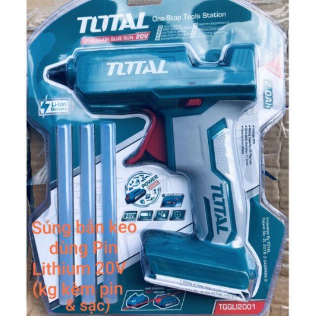Súng bắn keo dùng pin 20V TOTAL TGGLI2001 - 15133639 , 2659011511 , 322_2659011511 , 258000 , Sung-ban-keo-dung-pin-20V-TOTAL-TGGLI2001-322_2659011511 , shopee.vn , Súng bắn keo dùng pin 20V TOTAL TGGLI2001
