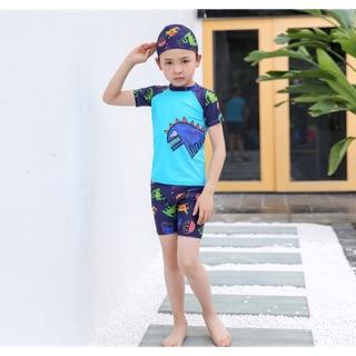 Bộ đồ bơi bé trai 3 chi tiết chất liệu dày dặn có giãn , may tinh xảo ,giá siêu rẻ- hàng Quảng Châu.