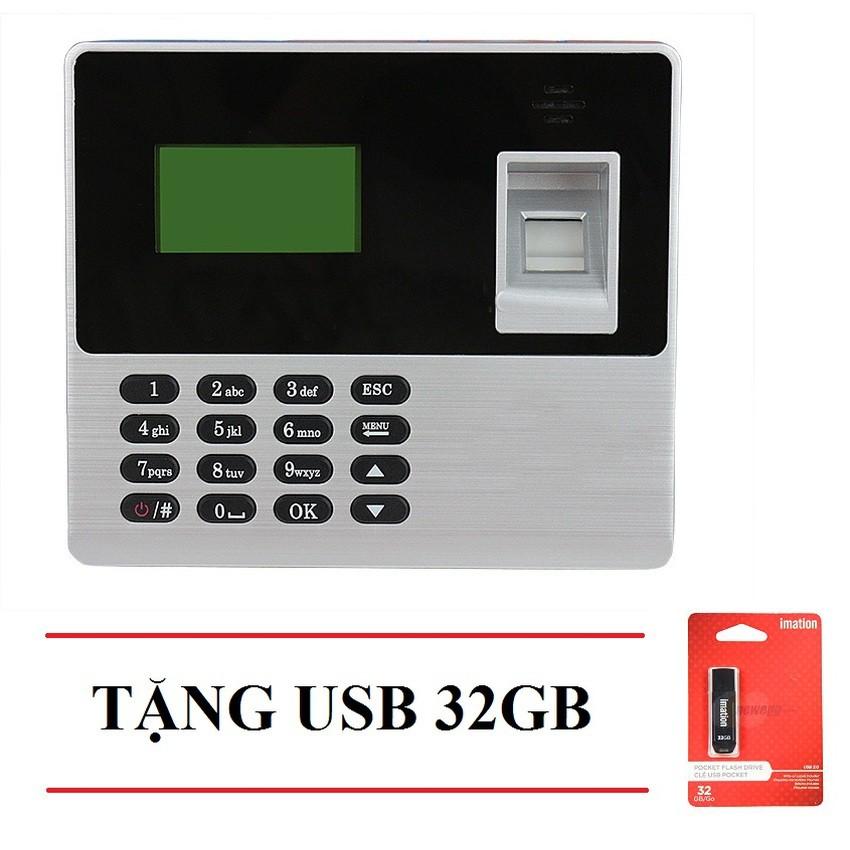 Máy chấm công quét vân tay Ronald Jack X638 (đen xám) + USB