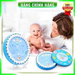 [Hàng Loại 1] Bộ in dấu chân vân tay lưu dữ kỷ niệm cho em bé yêu [ hộp full phụ kiện ] .