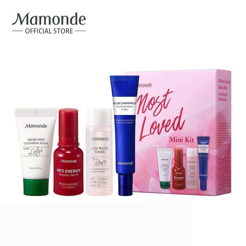 Bộ sản phẩm dưỡng da được yêu thích nhất Mamonde Most Loved Mini Kit    Shopee Việt Nam