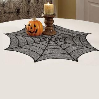 Khăn trải bàn hình mạng nhện trang trí tiệc halloween - hình 2