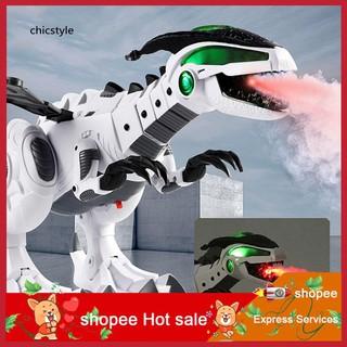 ❤❤❤Electric Spitfire LED Light Sound Simulation Dinosaur Model Boys Kids Toy Gift