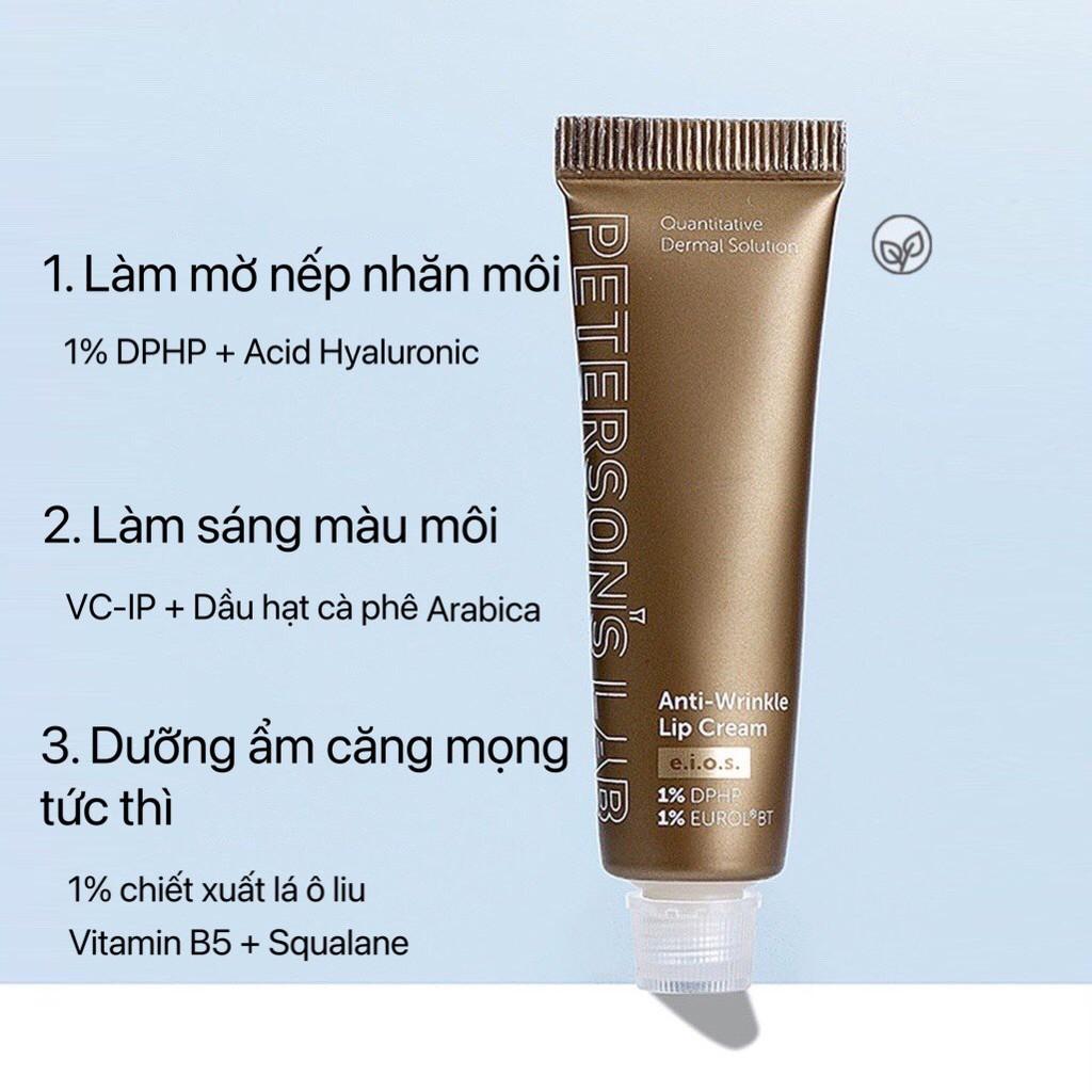 Son dưỡng PETERSON'S LAB chống lão hóa mờ nếp nhăn môi Anti-Wrinkle Lip Cream dưỡng ẩm môi mềm căng mọng PELA01
