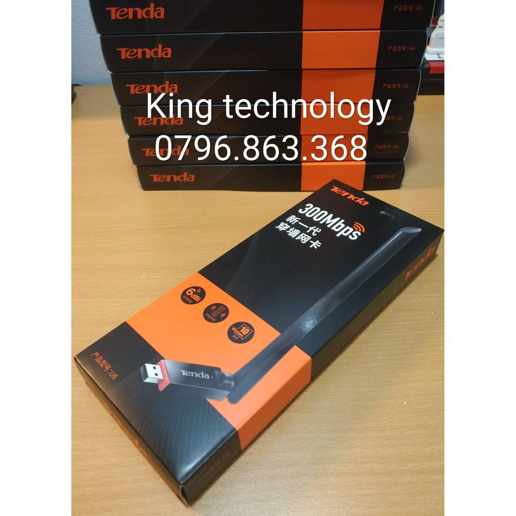 cạc mạng không dây tăng cường tín hiệu wifi tốc độ 300M – Tenda U6 Giá chỉ 199.000₫