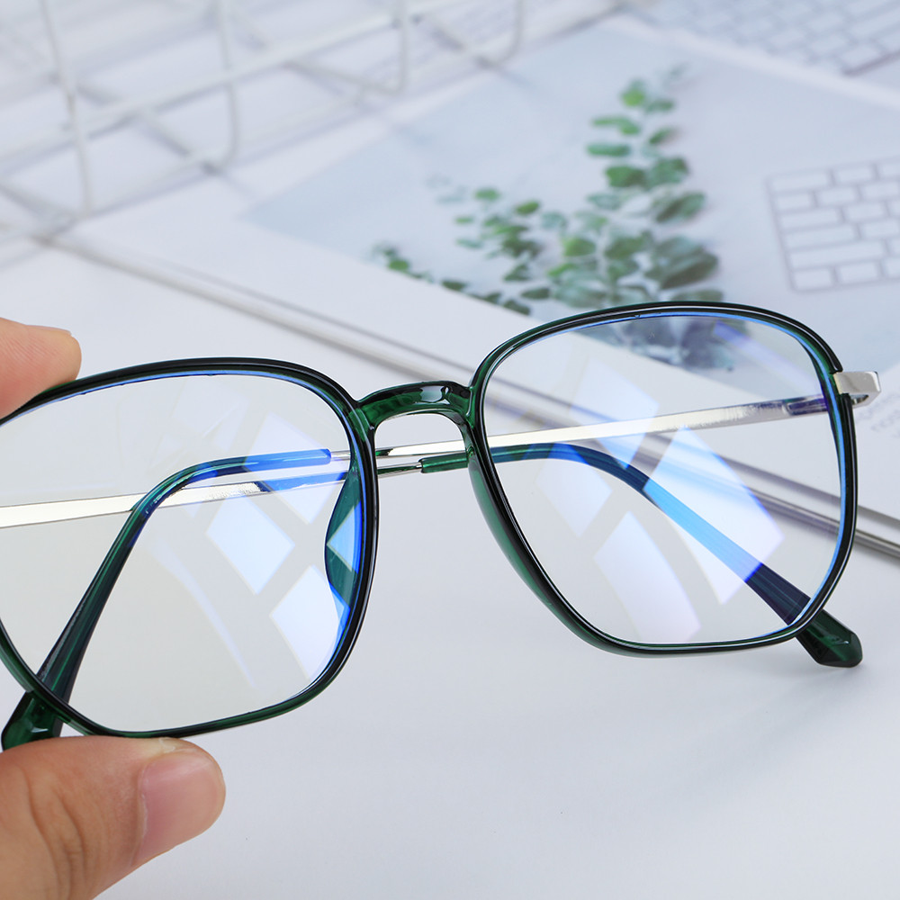 🌵CACTU🌵 Retro Office Computer Goggles Square Frame Gaming Eyeglasses Blue Light Blocking Glasses Vision Care Anti Eyestrain Unisex Radiation Protection...