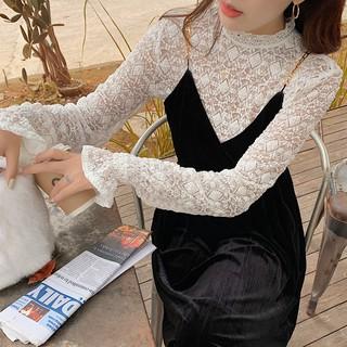 Áo Ren Tay Dài Quyến Rũ Phong Cách Hàn Quốc 2020 Cho Nữ