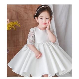 Váy công chúa phối nơ sau lưng siêu xinh cho cô công chúa nhỏ dáng xoè rộng, Vay dam cong chua, Vay be gai, Váy cho bé