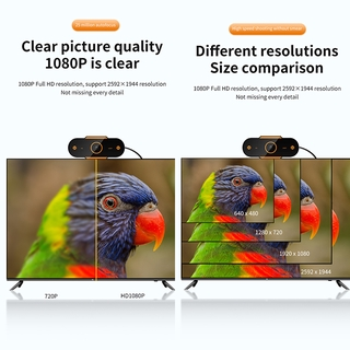 Hình ảnh KCO K9E Webcam Full HD 2K Auto focus with Microphone, For Network Broadcast Online School And Meetings Laptop Desktop YouTube Skype Facebook FaceTime-2