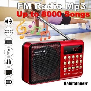 Radio Fm Usb Tf Mp3 Mini Cầm Tay Có Thể Sạc Lại